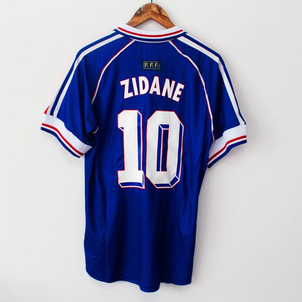 1998 FRANCE world cup champions RETRO VINTAGE ZIDANE HENRY MAILLOT DE FOOT Thailand Quality soccer jerseys uniforms Football Jerseys shirt