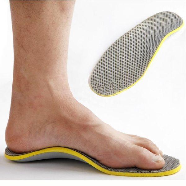 Plantillas Ortopédicas para Hombres 3D Flatfoot Flat Foot s Orthotic Arch Support Plantillas High Arch Shoe Pad Plantilla RD672433