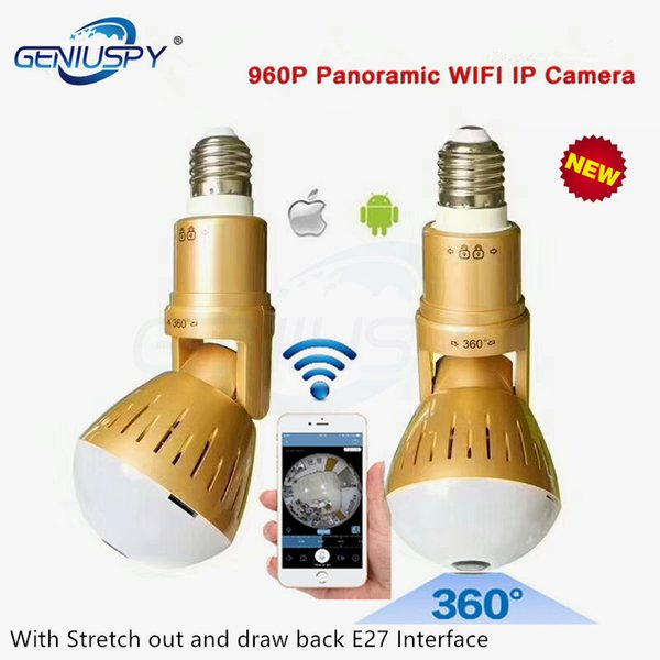 Best Design Bulb Lamp V380 Wireless IP Camera Wifi 960P Panoramic FishEye Home Security CCTV Cam 360 Degree Bulb Wifi Camera