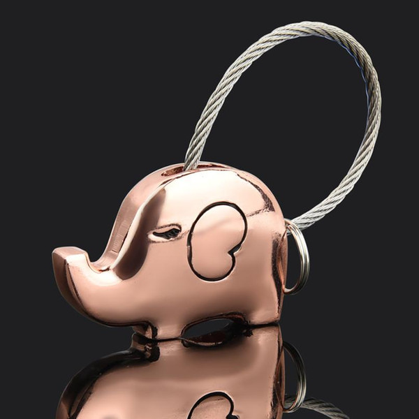 OTOKY À La Mode En Conception Unique Et Attrayant Romantique Couple Porte-clés Éléphant Mignon Modèle Porte-clés Pendentif Décoration Jul31
