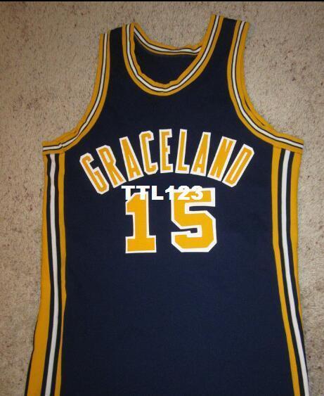 Vintage Graceland University jaune vestes Lamoni Iowa réel broderie complète College jersey taille S-4XL ou personnalisé tout nom ou numéro maillot