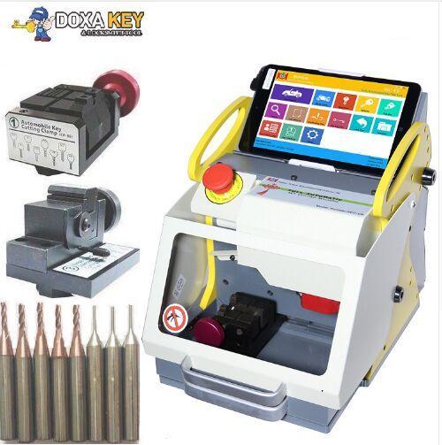 100% Original 2 Clamp + Original Sec E9 Laser Key Cutter ,Locksmith key cutter, Auto Locksmith Tool ,SEC-E9 automatic key cutting machine