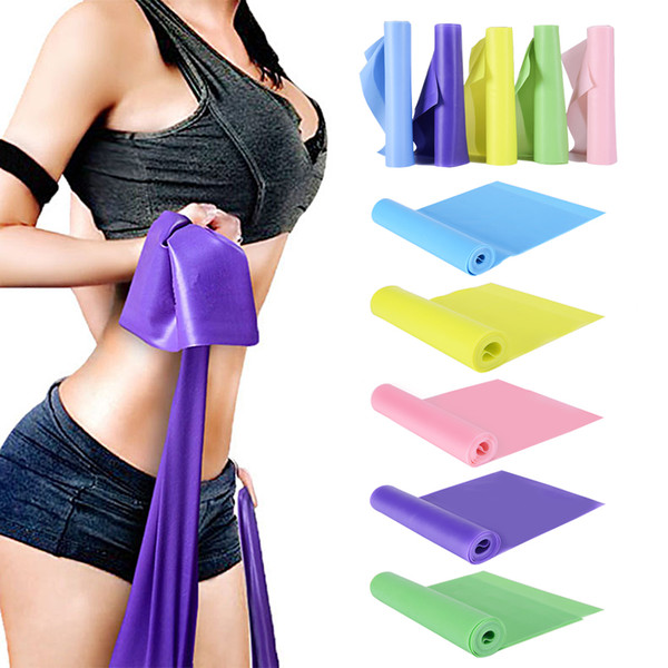 Yoga Pilates Resistance Bands Fitness Gum Sport Elastic Band Gym Fitness Equipment Elastic Band for Training Exercises Workout
