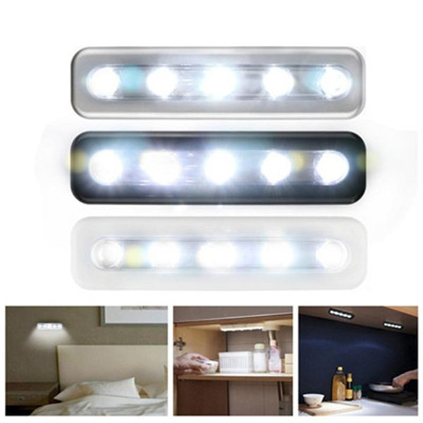 the latest 6d882 db970 2019 LED Wall Light Bright Battery Operated Bulb Stick On Strip Kitchen  Shed Bedroom Corridor Lamp Restroom Bathroom Reading Lamp From Alluring, ...
