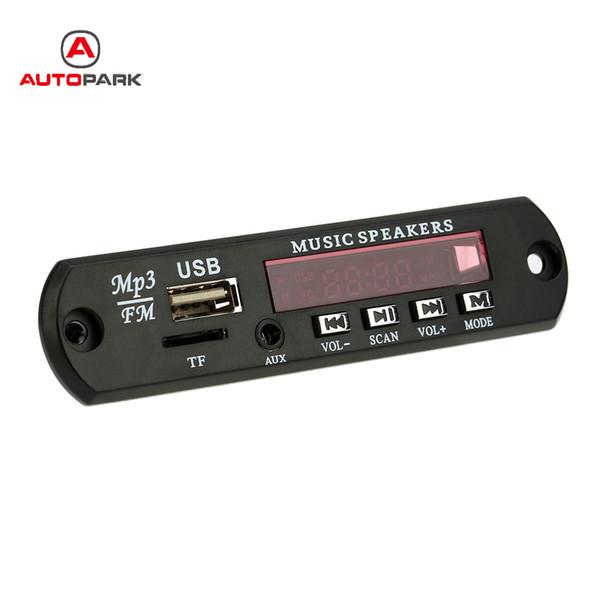 Car Music MP3 Decoder Board Audio FM Radio Module with Aux in USB Port TF Card Slot Remote Control