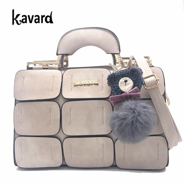 Kavard Suture Boston Bags For Women Ladies Hand Bag Women Leather Handbags Sac A Main 2018 Woman Bag Handbag Women Famous Brand