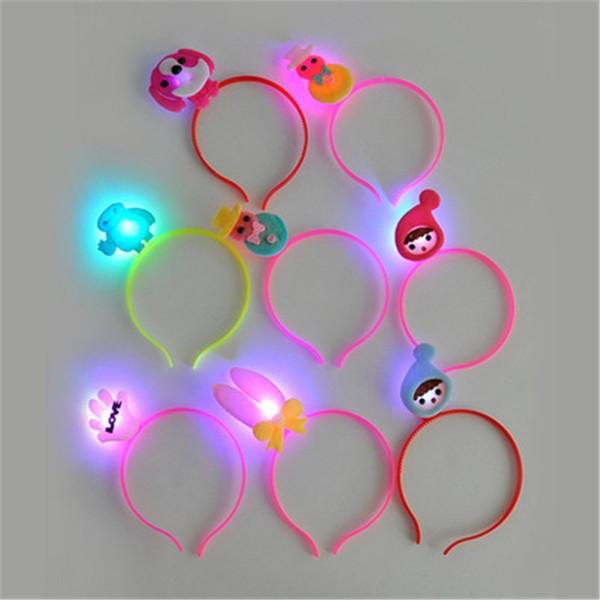 Girls LED Light Up Flash Headband Costume Hair Clip Headwear Led Hair Accessories Gift H342