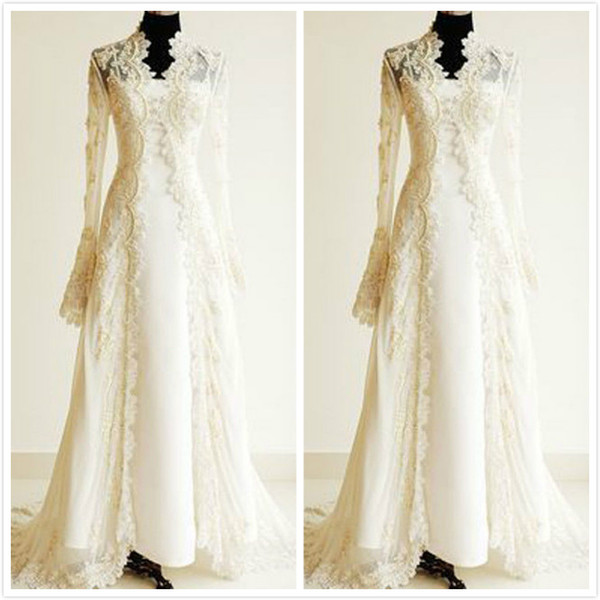 Solovedress New Arrival Wedding Jackets Long Sleeve Bolero Mariage Lace Women Shrug Bridal Shawl 2019 Wedding Accessories