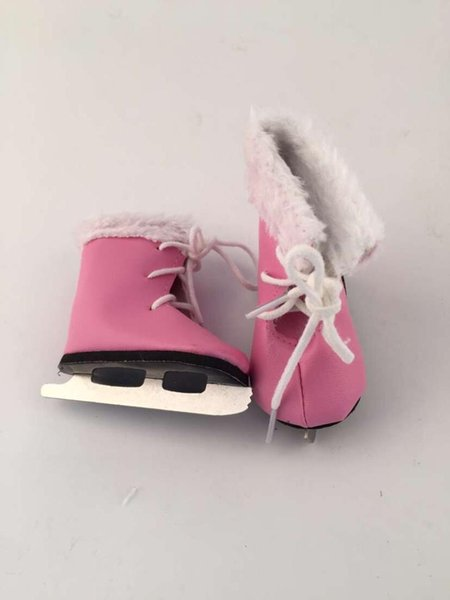 Pink skating shoes doll accessories fit 18inch American girl Casual fashion baby Birthday gift
