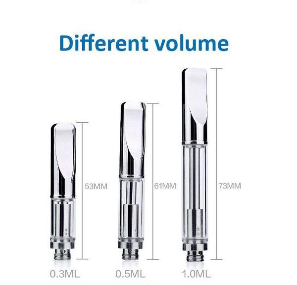 Hot Pyrex 92A3 Cartridges Vaporizer BUD Touch Stainless steel drip glass tube thick wax Atomizer 510 O pen CE3 Waxy vapor e cigs vape Tank