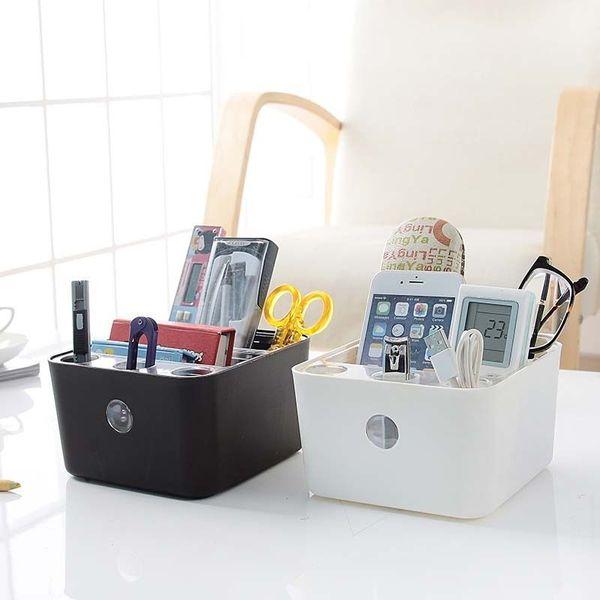 Small Size Storage Boxes Bathroom Office Table Organizer Pen Pencil Box Stationery Holder Storage Black Sundries Box E3MXBH05456