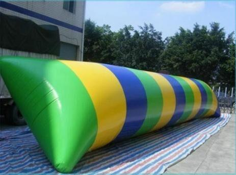 Free Shipping 7*3m 0.9mm PVC Inflatable Water Blob Jump Water Toys Water Blob Jumping Bag Inflatable Aqua Tramplione free a Pump