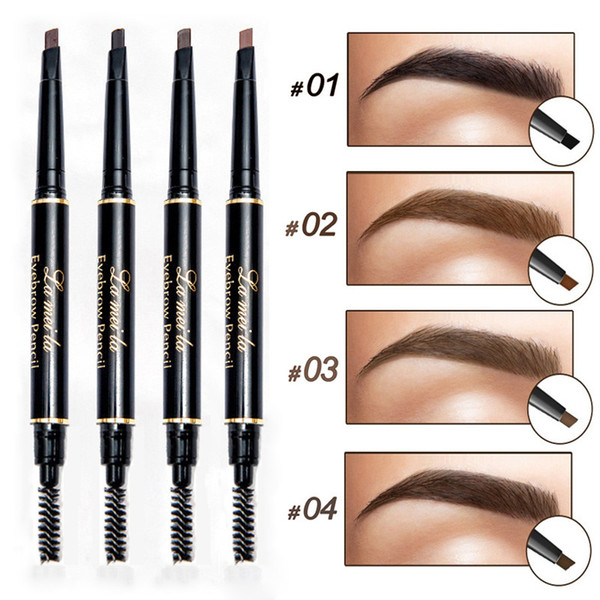 Professionale Double-end Sopracciglio Penna Penna Eye Makeup Waterproof Sopracciglio duraturo Nero Marrone Natural Eye Brow Tint con pennello
