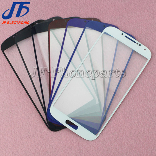 10pcs/lot LCD Touch Screen Front Outer Glass Lens Digitizer Screen For Samsung Galaxy S4 i9500 i9505 M919 S4 mini I9190 I9195 + logo
