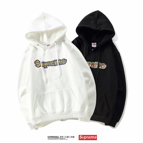 Großhandel Gonz Hooded Sweatshirt Farbige Stickerei Mit Kapuze Hoodies Frauen Und Männer Paar Hoodies Pop Logo Brief Sportwear Von Animao, $41.63 Auf
