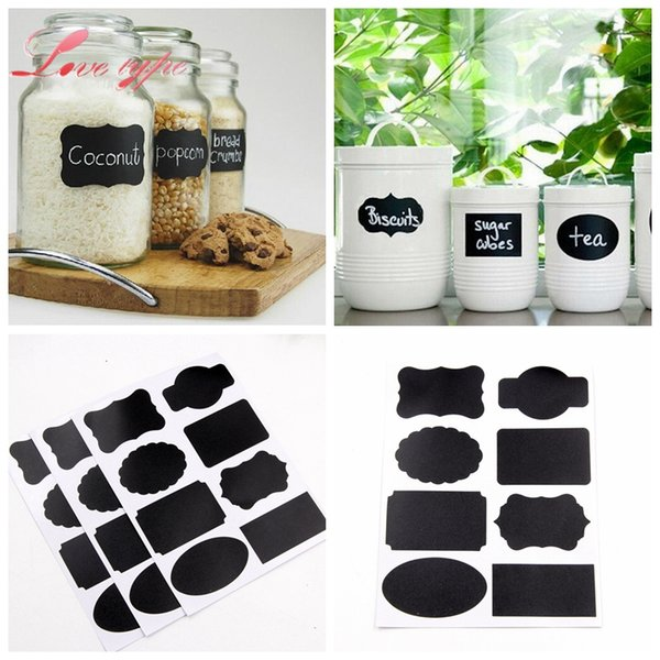 vent Party Party Holiday DIY Decorations 40PCS/Lot Blackboard Sticker Craft Kitchen Jar Organizer Labels Chalk Board DIY For Home Kids R...