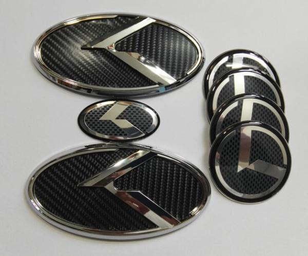 Бесплатная доставка 7 шт. 3D черный углерода K эмблема для KIA новый Форте YD K3 2014-2015 / эмблемы автомобилей / 3D наклейки