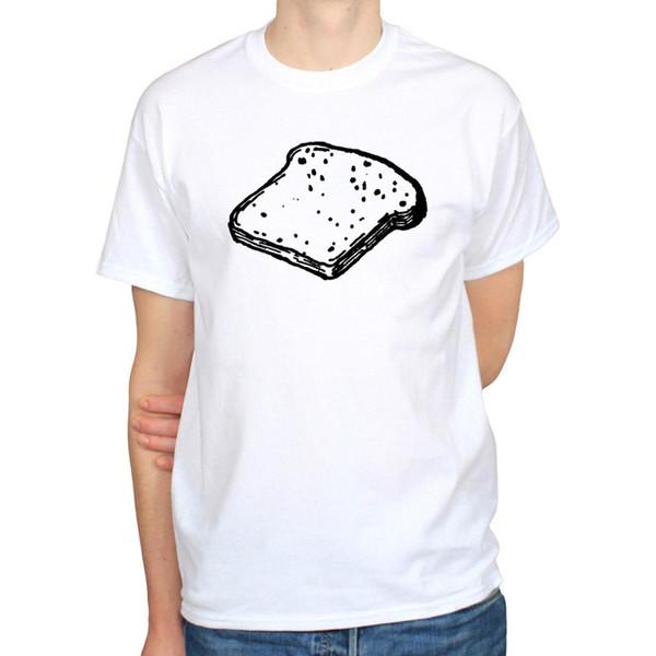 Toast Pane Prima colazione Burro Illustrazione alimentari Mattina Disegno T-shirt