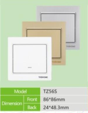 TZ56S Z-Wave Wireless Wall Mounted Switch ZWave Micro Module 868.42MHz For lighting control system