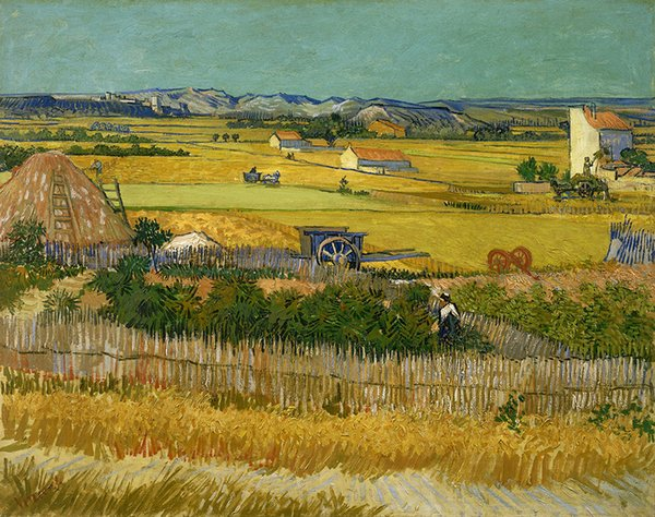 Vincent Van Gogh Oil Painting Reproduction Canvas Wall Art Autumn harves Picture Printed on canvas Modern Home Decoration Unframed or Framed