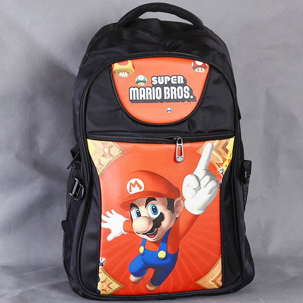 Classical Game Super Mario Laptop Black Backpack/Double-Shoulder/School/Travel Bag for Teenagers or Animation Enthusiasts