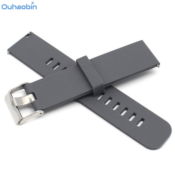Ouhaobin Watch Band Solid Color Strap Pattern Silicone Replacement Strap Smart Wrist Band For Huami Amazfit Watch Straps Dec11
