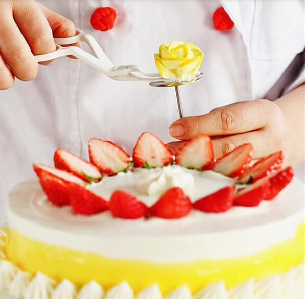Plastic Scissor Cake Tool - Fondant Decor Flower Lifter Cake Edge Decorating Sugarcraft Move Scissor Clip Cream Transfer