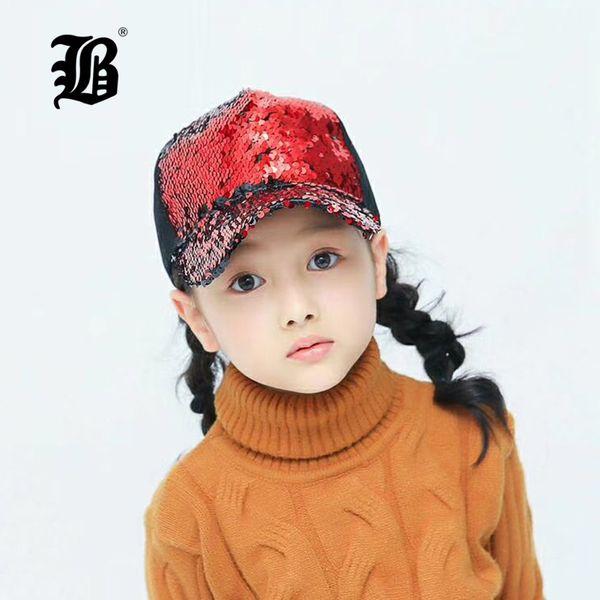 [FLB] Sequins Sun Cap For Boys Adult Kids Snapback Caps Baby Summer Hat For Children Baseball Caps Boys Girls Hip Hop Hat F159