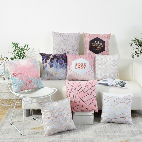 New hot sale INS brief cushion covers North European fashion pillow cushion sofa office decoration pillowcase Flannelette material