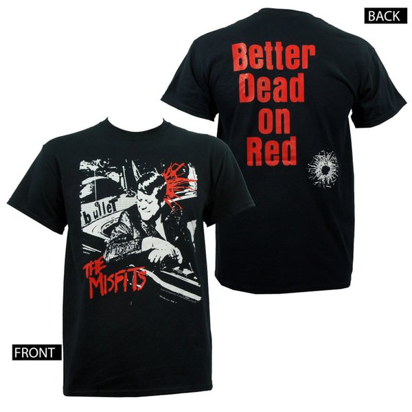 Autentica The Misfits Band Bullet Camiseta con el logotipo de Kennedy S M L Xl 2Xl Nueva camiseta Ropa de marca para hombre Moda manga corta