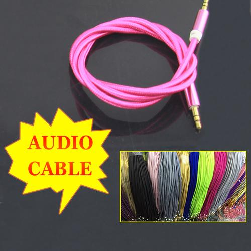 best selling 3.5mm AUX Auxiliary Cable 3ft Cloth Braid Male To Male Stereo Car Extension Audio Cord For MP3 MP4 iPhone Bluetooth Speaker Loudspeaker