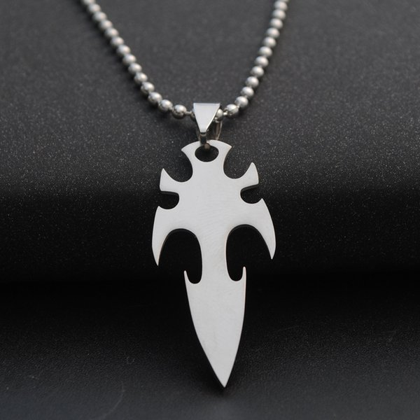 10pcs stainless steel arrow dart charm pendant necklace weapon sea god trident lucky necklace super hero sword dart titanium steel necklace