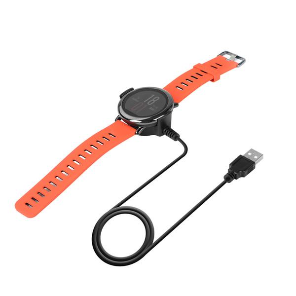 Novo relógio inteligente cabo de carregamento 5 v 300 ma 1 m preto cabo de carregamento usb berço carregador para xiaomi huami amazfit smart watch