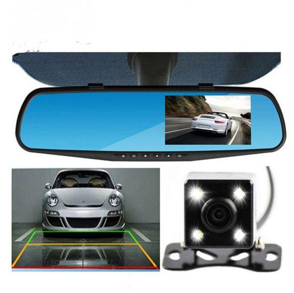 dual lens car camera car dvr rearview mirror auto dvrs cars dvr full hd 1080p night vision dash cam parking video recorder registrator