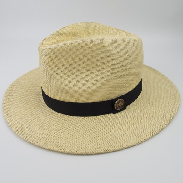 New Unisex Paper Straw Panama hat Cool Breathing Fashion Fedora Hats for Summer Beach Holiday Classic and Vintage TOP Style Cap EPU-MH1816
