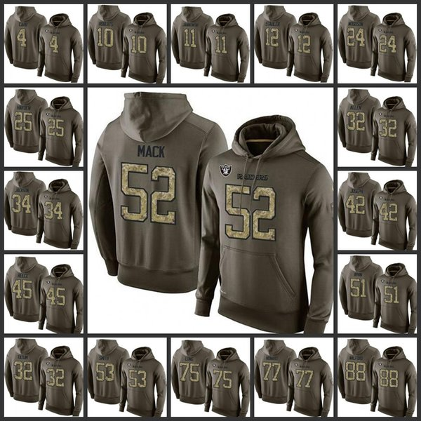 uk availability a824a ef6e6 2018 TOP Sale Oakland Raiders Embroidery Man #4 Derek Carr 52 Khalil Mack h  Roberts 42 Karl Joseph Pullover Hoodie From Fusjersey, $25.72 | DHgate.Com