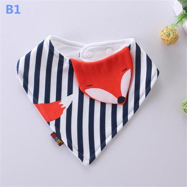 Baby Cotton Bibs Cute Cartoon Burp Cloths Infant Newborn Baby Feeding Triangle Saliva Towel 7 Designs