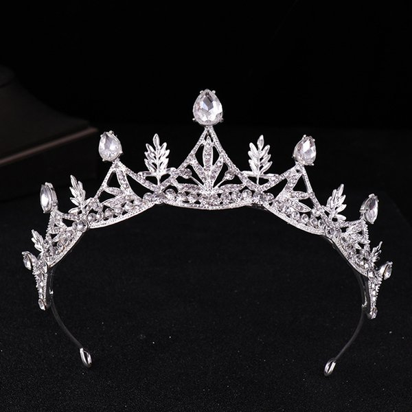 Bride's headdress 2018 new alloy crown hairline exquisite leaf shape