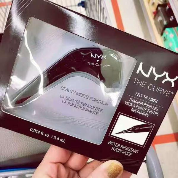 NYX THE CURVE Liquide Eyeliner Beauty Meets Fonction Haute Qualité Imperméable À L'eau Cosmétique Party Queen Eye Maquillage Eyeliner DHL gratuit