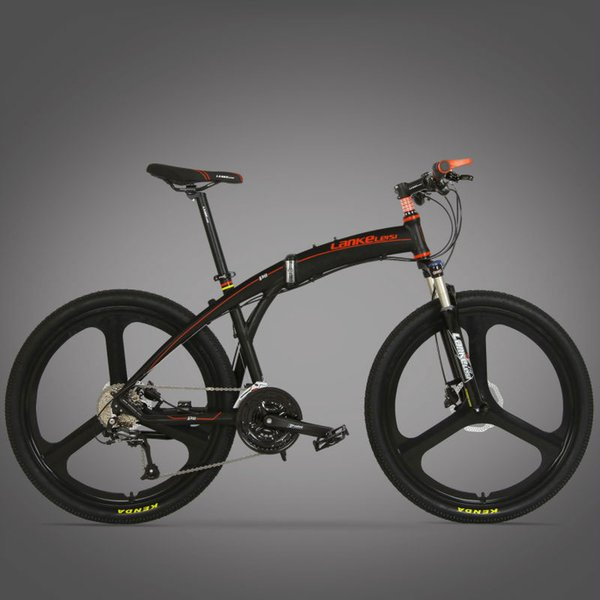 """wholesale P8 Foldable Mountain Bike Full Suspension 17""""x26 inch Aluminum Alloy Frame 27 Speed Double Disc Brake folding bicycle"""
