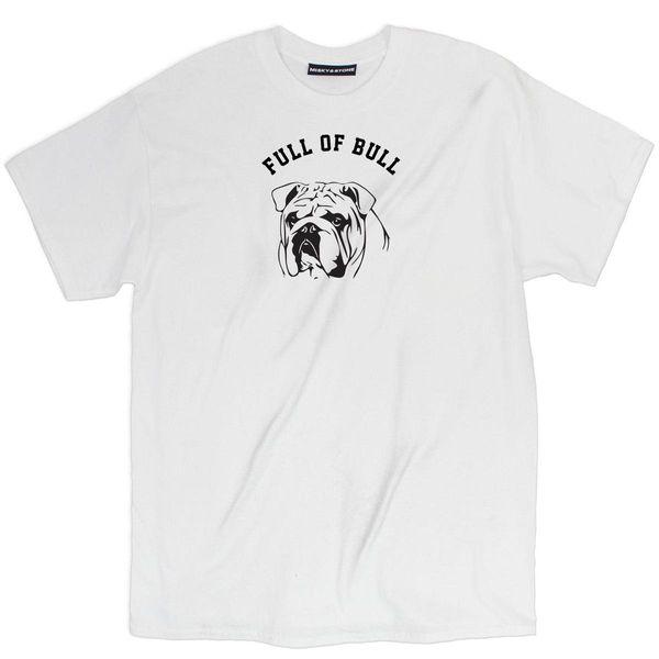 Misky & Stone Full Of Bull Funny Bulldog T-Shirt Tee