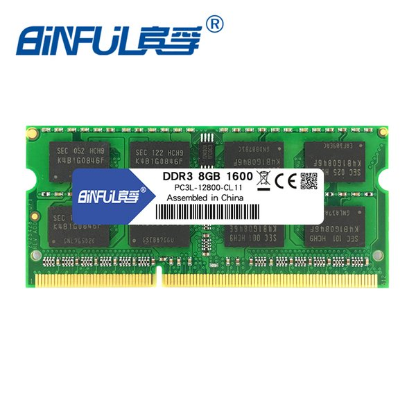 ram for laptop Binful Original New Brand DDR3L 8GB 1600MHz PC3-12800 1.35V low voltage CL11 SODIMM 204pin notebook Memory Ram For Laptop