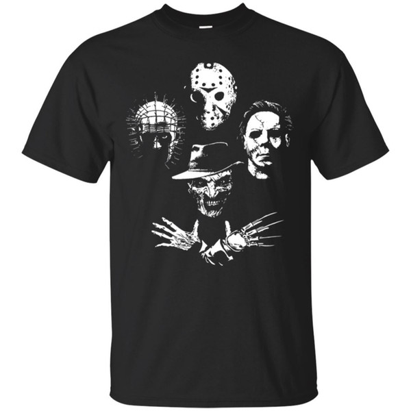 Halloween Horror T-shirt Killed A Man Michael Myers Jason Freddy Krueger S-3XL Funny free shipping Unisex Casual