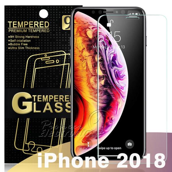 Pour le NOUVEL Iphone XR XS MAX 8 7 Samsung J6 J7 PRIME S7 S6 Protecteur d'écran en verre trempé Huawei Mate 20 X P20 Lite Pro Paquet de papier 0.26mm