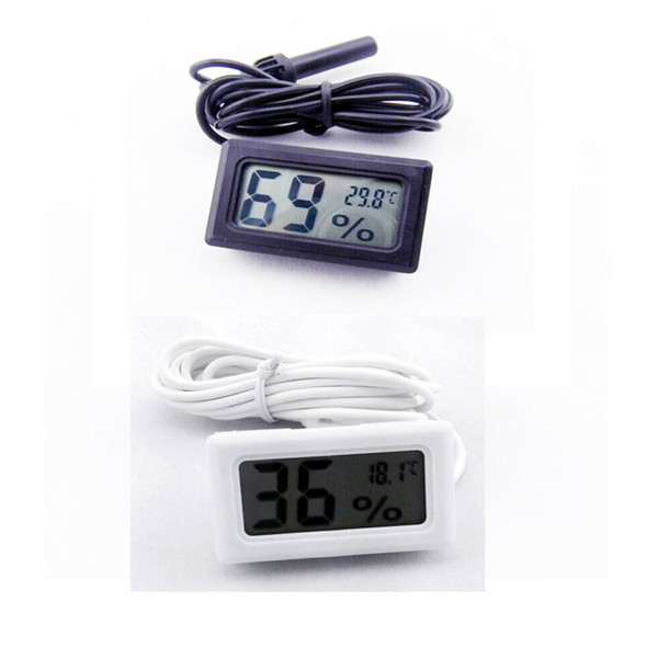 best selling Wired Digital LCD Hygrometer humidity meter tester Aquarium temperature thermometer with probe Free shipping