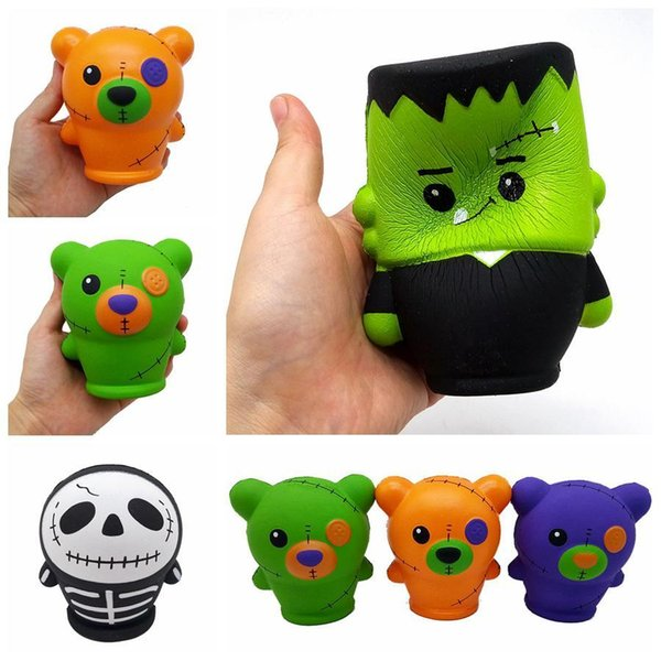 Bears Skull Design Squishy Toy Multi stili Slow Rising PU Spremere Giocattoli Decompression Toy Per bambini Adulti Regalo Favore di partito