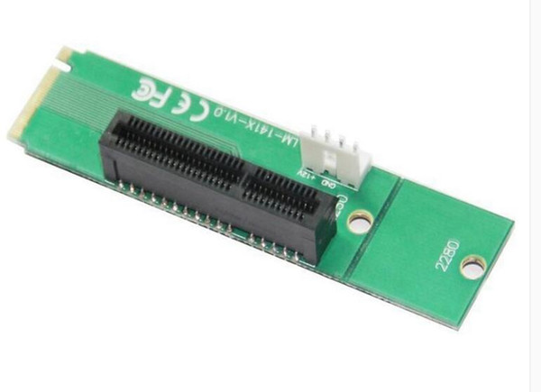 1 PCS NGFF to PCI-E Riser card M.2 Port to PCIE Expansion Card NGFF to PCI-E X4 Slot Adapter