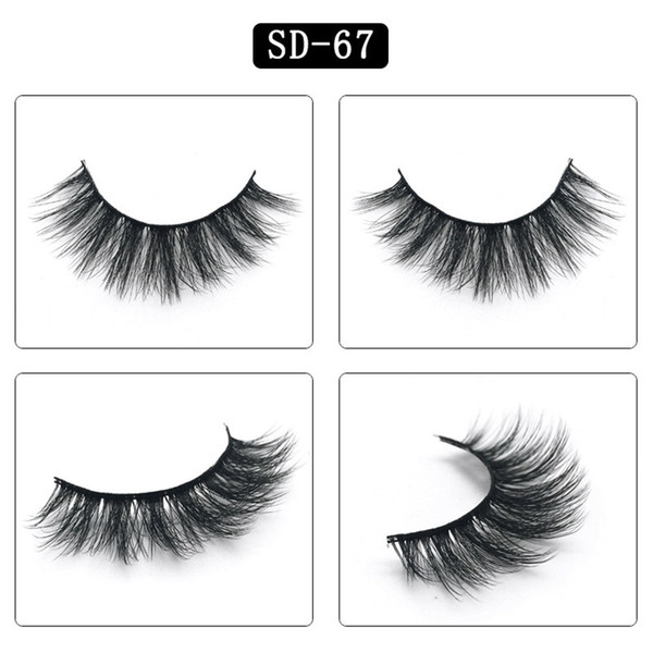 top popular Factory Price OEM synthetic lashes Eyelashes Messy Eye lash Soft Extension Sexy Eyelash Full Strip Eye Lashes 2020