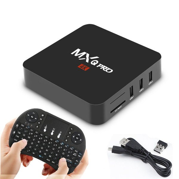 Android 7 1 TV Box MXQ Pro Amlogic S905W Quad Core Mini 1G 8G APP 17 6  Fully With I8 Wireless Keyboard Tv Box Internet Tv Now Box From Andd1y_top,