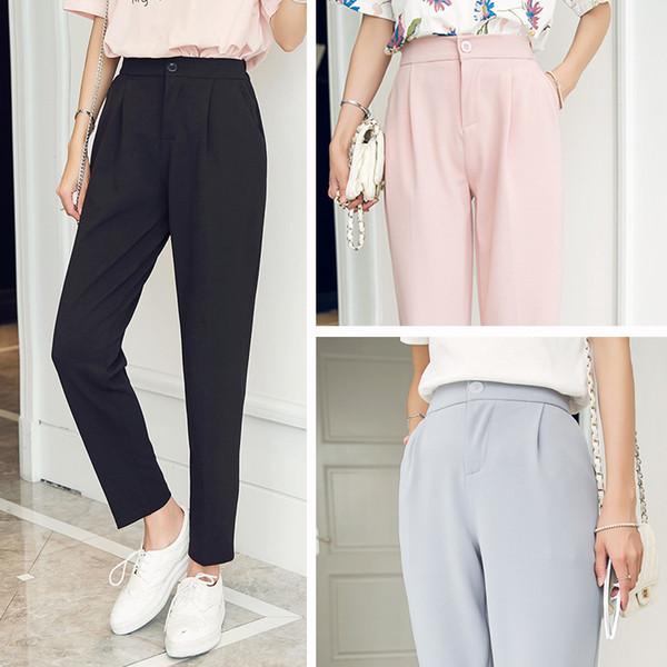 4ce3a7c056 Pantalones de harén mujeres nuevas mujeres de moda caliente moda pantalones  de tobillo mujer cintura alta